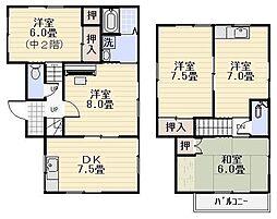 [一戸建] 神奈川県逗子市池子2丁目 の賃貸【/】の間取り