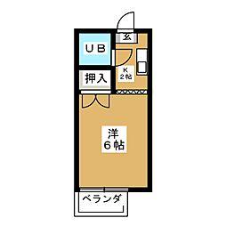 ミユキハイツ[2階]の間取り