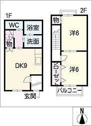 [タウンハウス] 岐阜県美濃加茂市牧野 の賃貸【/】の間取り