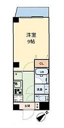 グリュックメゾン本田 7階1Kの間取り