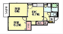 サリーレ天神の木2[1階]の間取り