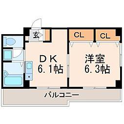 レオン呉羽[2階]の間取り