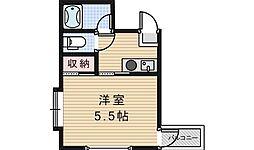 大阪府大阪市阿倍野区阪南町5丁目の賃貸マンションの間取り