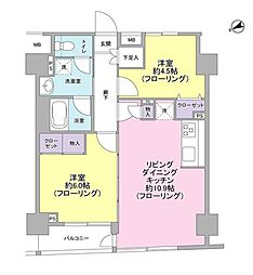 パートナーシップアパートメント 8階2LDKの間取り
