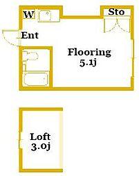 メリーコーポ[2階]の間取り