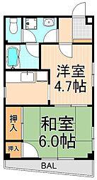 ファミール浅草[3階]の間取り