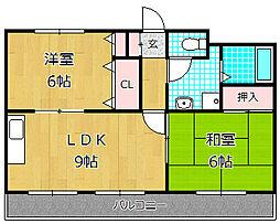 サンハイム渚[2階]の間取り