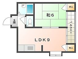 神木ハイツ[1階]の間取り