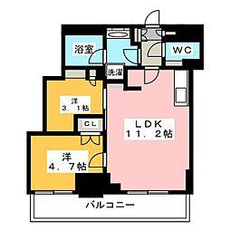 Brillia ist 元浅草 11階2LDKの間取り