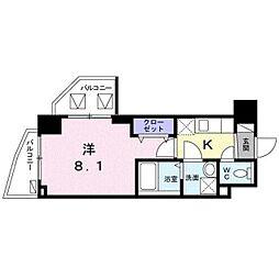 東京メトロ東西線 葛西駅 徒歩10分の賃貸マンション 5階1Kの間取り