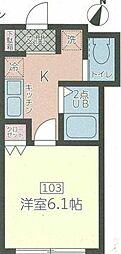 東京都渋谷区千駄ヶ谷5丁目の賃貸マンションの間取り