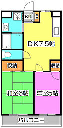 セジュール・ド・ミワ壱番館[4階]の間取り