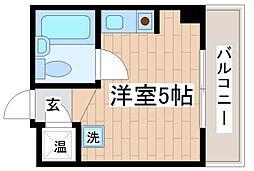 兵庫県神戸市中央区北長狭通6丁目の賃貸マンションの間取り