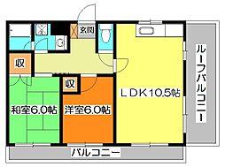 東京都東久留米市八幡町3丁目の賃貸マンションの間取り