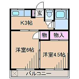 西山第2ビル[3階]の間取り