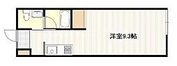 広島電鉄宮島線 修大協創中高前駅 徒歩7分の賃貸アパート 2階ワンルームの間取り