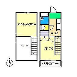 コーポ吉本[3階]の間取り