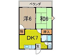 大門ハイツI[1階]の間取り