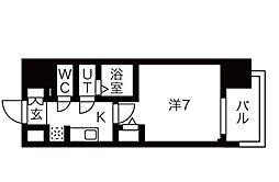 名古屋市営桜通線 今池駅 徒歩8分の賃貸マンション 5階1Kの間取り