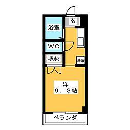 サテライト三共[2階]の間取り