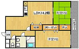 熊野苑[4階]の間取り