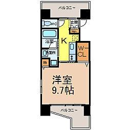 愛知県名古屋市西区菊井1丁目の賃貸マンションの間取り