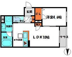 京阪本線 守口市駅 徒歩13分の賃貸マンション 1階1LDKの間取り