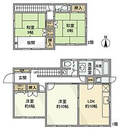 [一戸建] 千葉県松戸市小金原9丁目 の賃貸【/】の間取り