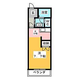 田畑ハイツ 上の段[2階]の間取り