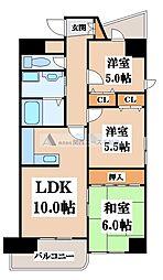 ラピュタクモン[5階]の間取り