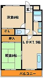 コンフォート宮下[4階]の間取り