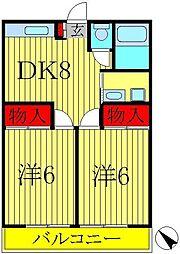 チアフル宇田川[2階]の間取り