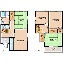 [一戸建] 奈良県生駒市小平尾町 の賃貸【/】の間取り