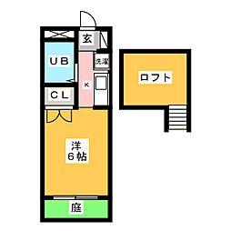 エンゼルパレス[1階]の間取り