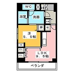 アップル第7マンション[10階]の間取り