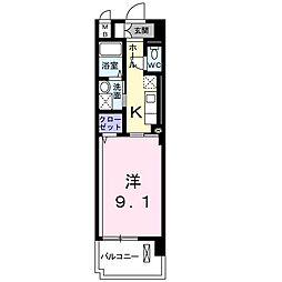 東京都西東京市保谷町2丁目の賃貸マンションの間取り