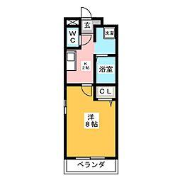 リバーサイド98[2階]の間取り