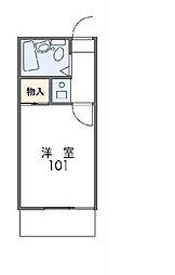 神奈川県横浜市南区中里町の賃貸アパートの間取り