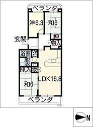 コンフォール瀬戸[2階]の間取り