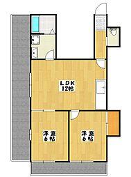 メイプルマンション[1階]の間取り