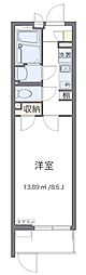 JR青梅線 小作駅 徒歩15分の賃貸マンション 1階1Kの間取り