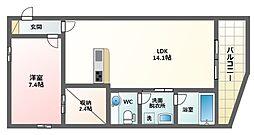 ヴィーブル駒川Ferio[3階]の間取り
