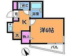 東京都三鷹市新川1丁目の賃貸マンションの間取り