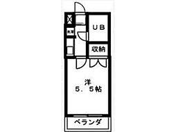 美咲の翔ヒルズ[2階]の間取り