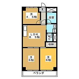 千代田マンション[5階]の間取り