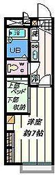 埼玉県八潮市大曽根の賃貸アパートの間取り