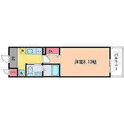 ウインズコート新大阪[8階]の間取り