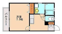 プレスト福大前D棟[1階]の間取り