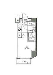 東京メトロ副都心線 雑司が谷駅 徒歩7分の賃貸マンション 7階1Kの間取り