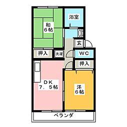 メゾンセンターリバー[2階]の間取り